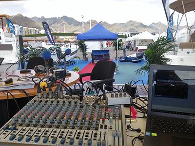 Programas de Radio en Exteriores en Feria Náutica